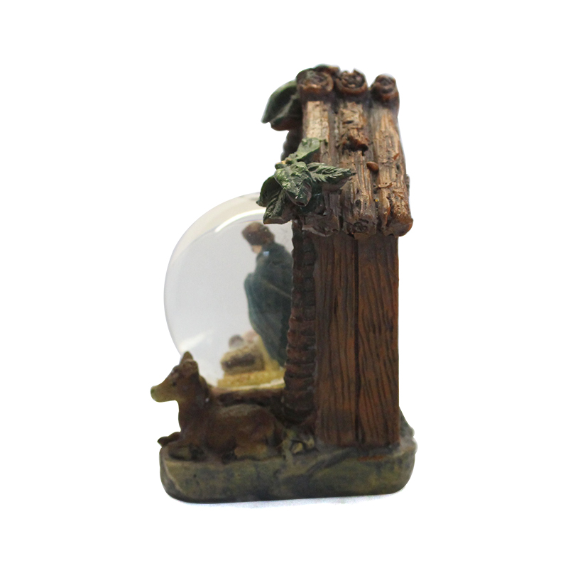 custom house snow ball religion glass snow globe