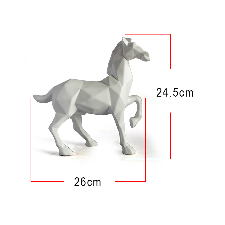 custom polyresin horse figurines for decoration