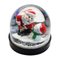 Custom high quality resin 3D Christmas snowman snow globe