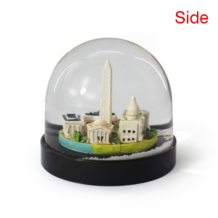 Custom Plastic Building Snow Crystal Ball For Crafts