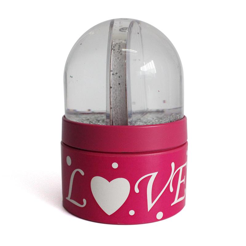 Resin creative custom photo frame snow globe gift box for jewelry storage