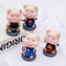 custom funny cosply marval character bobble head cute resin pig statue