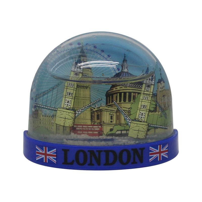 Hot sale custom plastic snow globe high quality souvenir fridge magnet manufacturers