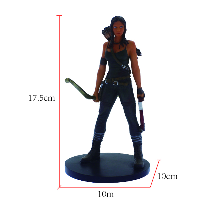 Resin custom cheap cartoon character military female statue with bows and arrows