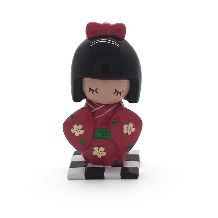 Resin home decoration wearing kimonos kneeling lovely cute Japanese girl statue