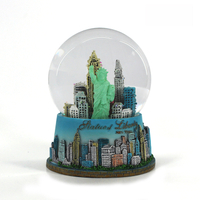 Resin New York Statue of Liberty Snow Globe