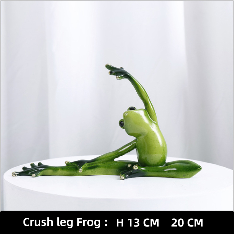 resin home decoration art crafts kinds of yoga pose frog statues