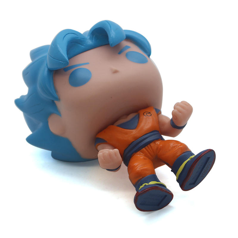 wholesale vinyl figures Dragon ball Blue hair goku action figures toys funko pop