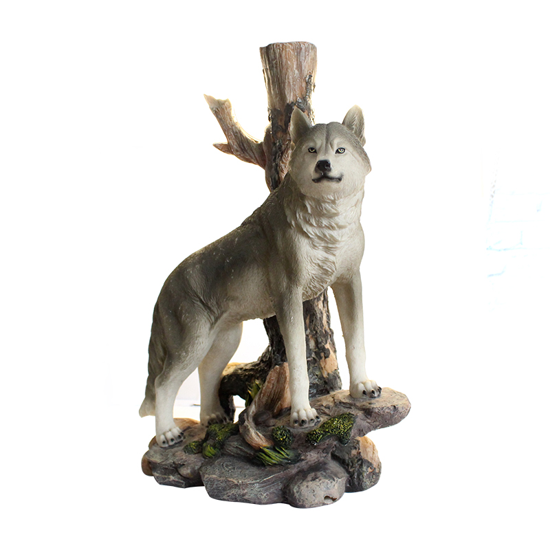 wholesale factory custom polyresin wolf figurines