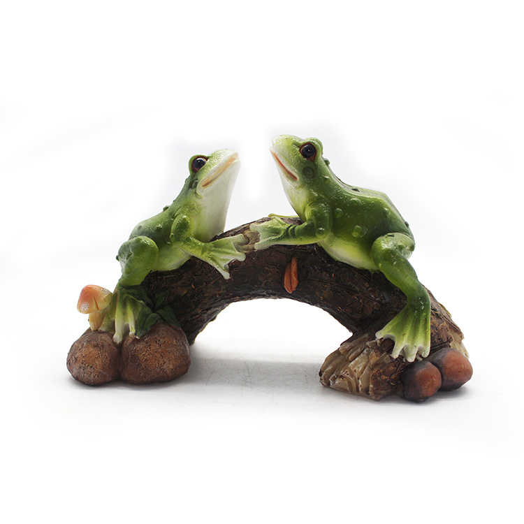 Cheap price custom polyresin outdoor decoration Artifical frog statue