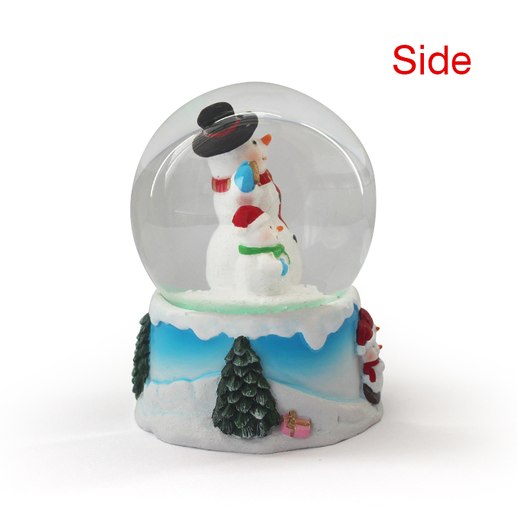 Artificial large resin glass snow water globes