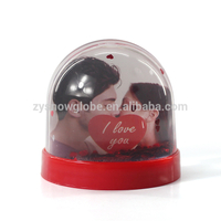 Acrylic simple photo holder snow globe
