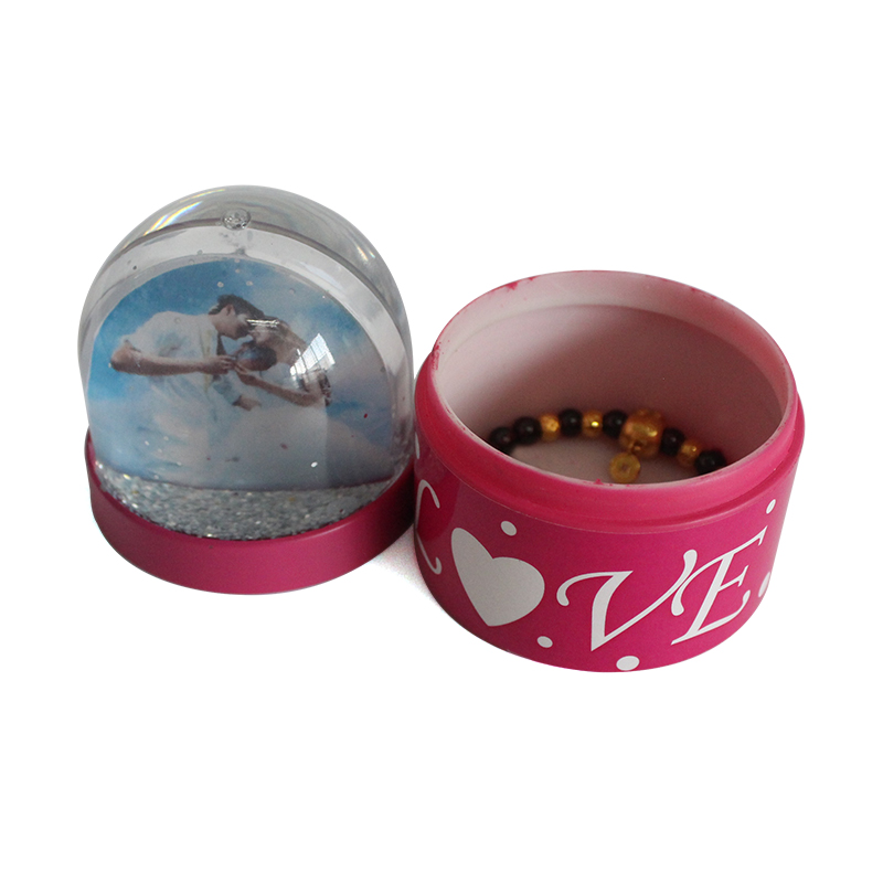 plastic transform snow globe with logo print promotional gifts