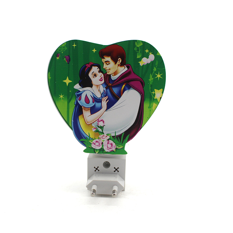 Custom plastic heart shape kids led nigh light manufacturers