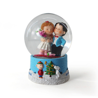 Precious Moments Wishing You The Sweetest Holiday Second in Annual Elf Series Resin/Glass Snow Globe