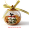 custom clear cheap decoration gifts glass ball christmas tree ornaments