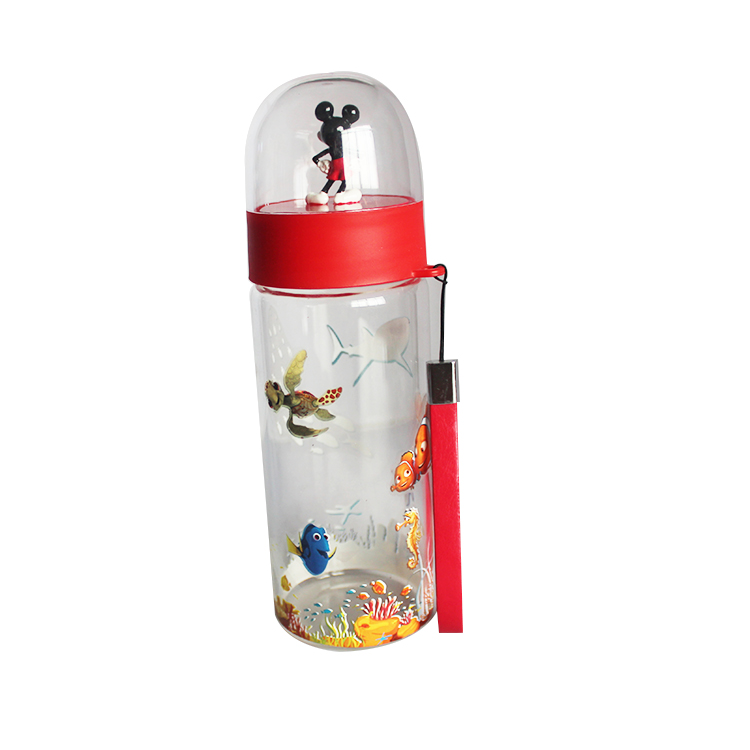 Custom Eco-Friendly Plastic Cartoon Child Water Bottle SNOW GOLOBE