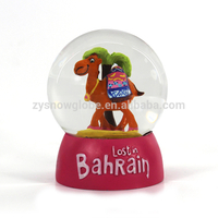 65mm resin cute animal snow globe