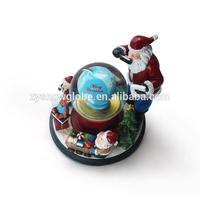 Santa Claus resin personalized snow globe