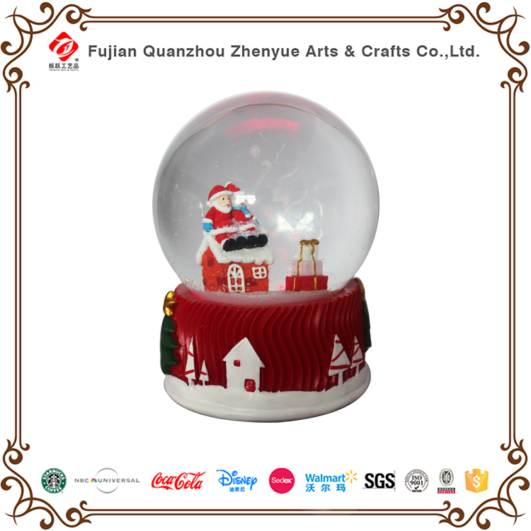 factory high quality crystal resin custom LED snowglobe for promotion