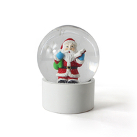 Hot Selling 100mm Snowman Snow Globe Creative Santa Claus Water Globe Crystal Ball In Resin Craft For Christmas Decoration