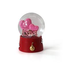 Custom high quality resin love Mermaid glass snow globe for sale Custom high quality resin love M
