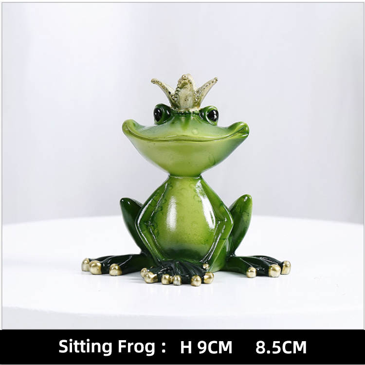 Frog figurine cheap price home decor youga shape animal statue