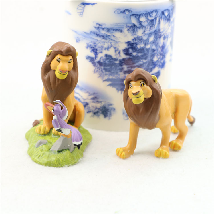 custom PVC kid toys animation cartoon model Simba small lion king figure