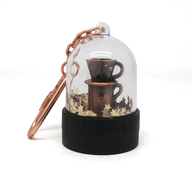 Great Gift Cheap OEM funny Wholesale mini snow globe Keychain