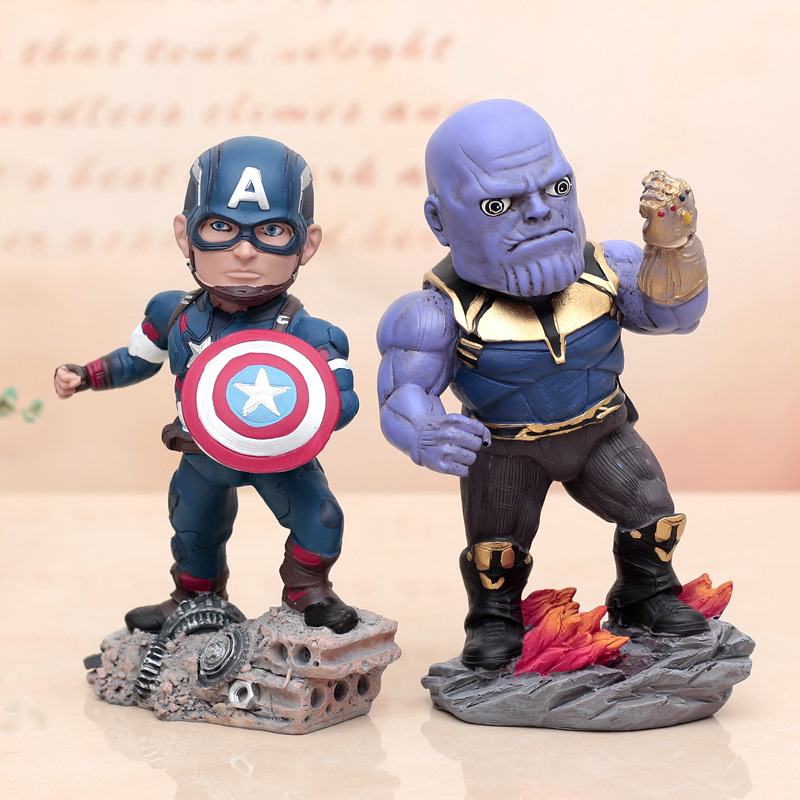 custom resin personalized marval movies character thanos statue for sale