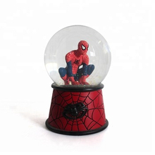 custom personalized snow globe Marvel Spider-Man snball for kids