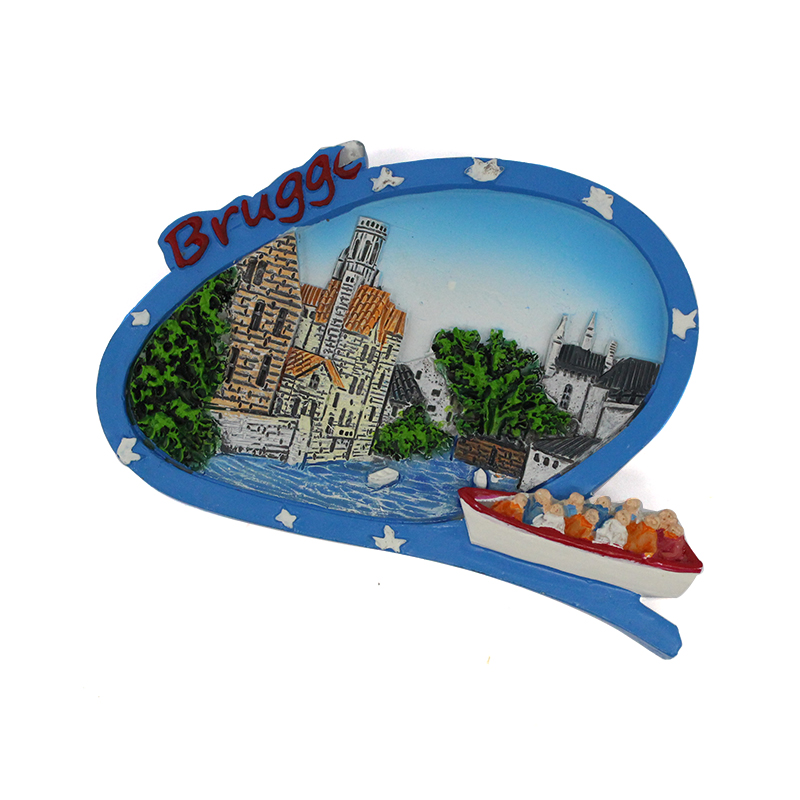 Custom Souvenir Building Brugge Fridge Magnet For Different Countries