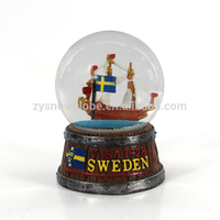 Resin customized sailboat snow globe