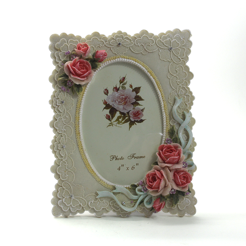 custom resin material photo frame home decoration
